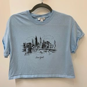 Topshop Cropped Tee - New York - Boxy Fit
